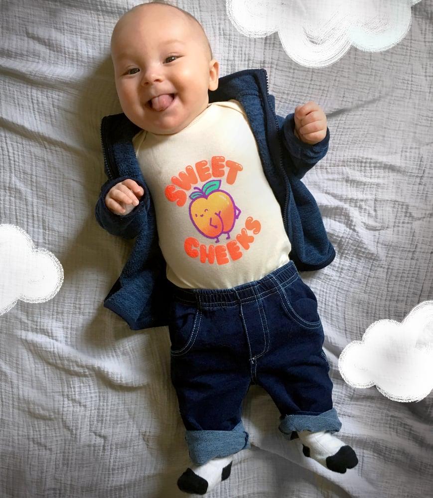 Image of Sweet Cheeks Toddler Tee/Baby Bodysuit