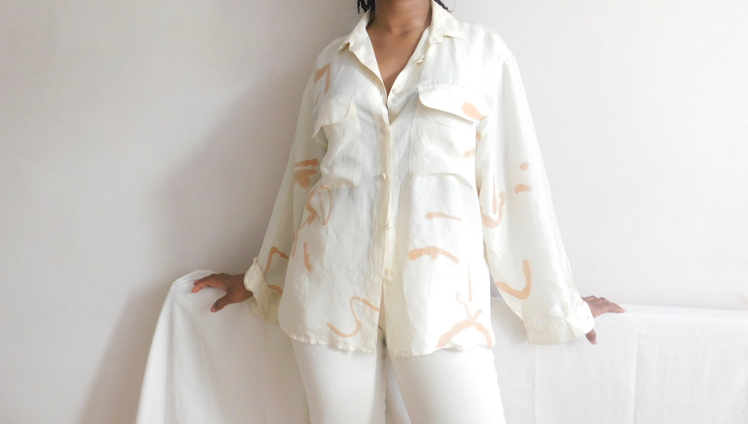 Image of warm hues blouse