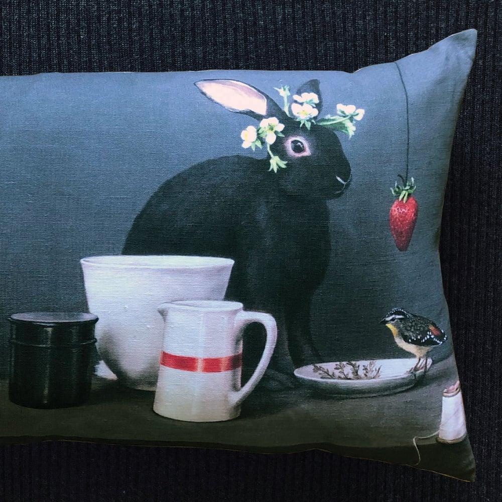 Image of Black Rabbit Bolster
