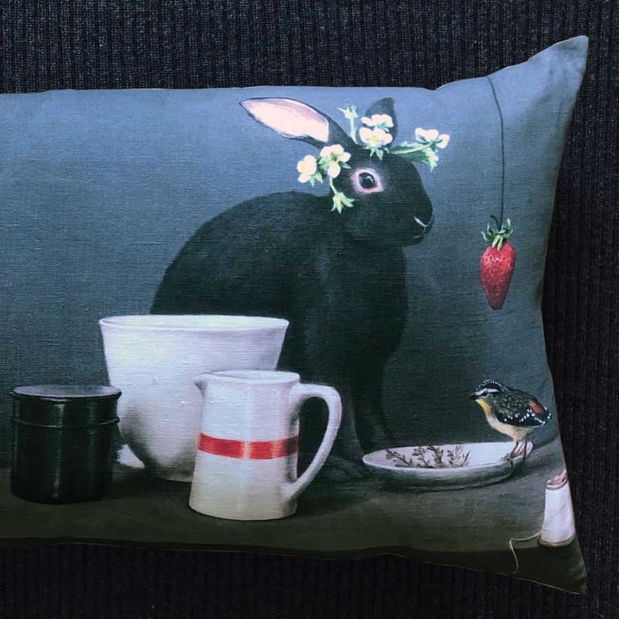 Image of Black Rabbit Bolster