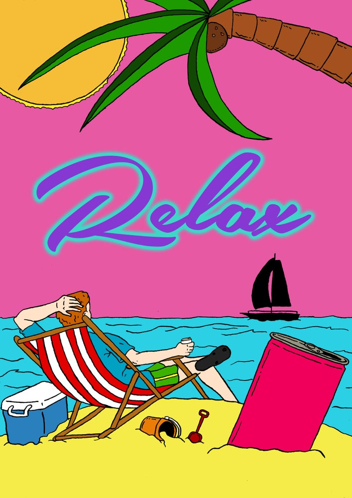 Image of Relax A3 Print