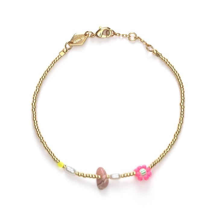 Image of Anni Lu Hanalei Bracelet in Bubblegum