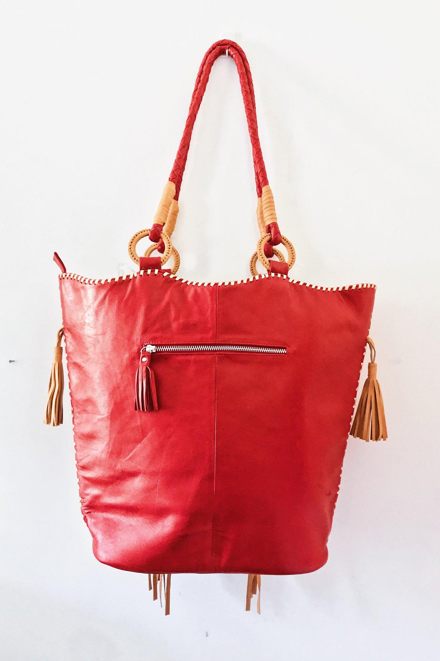 Image of LES TROPIC LEATHER TOTE