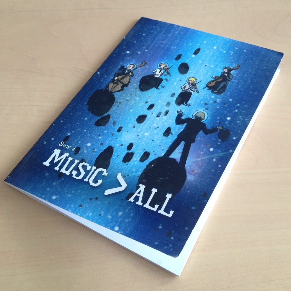 "Image of ""Music > ALL"" comic book (English or French)"