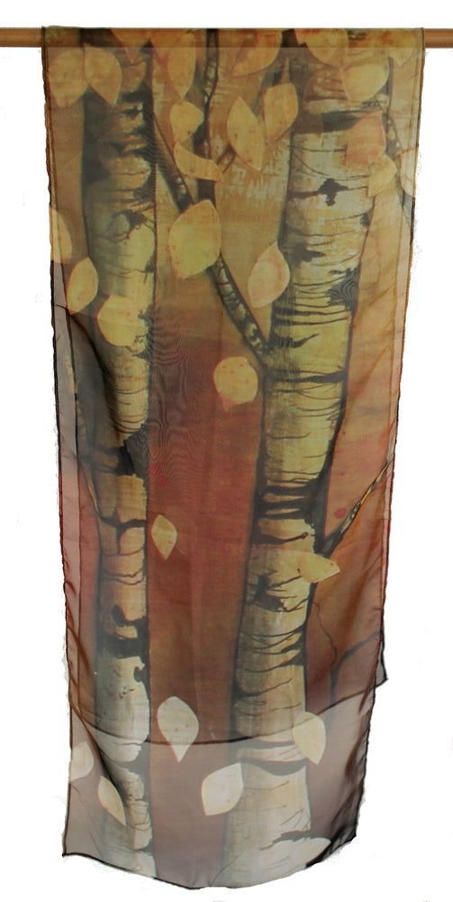 Image of Lily Greenwood Narrow Scarf - Silver Birch