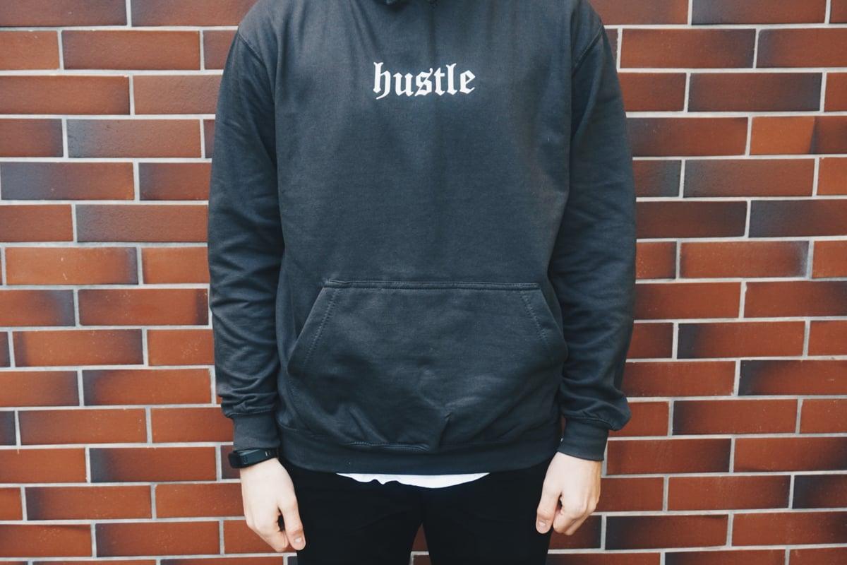 Image of Hustle Hoodie grau