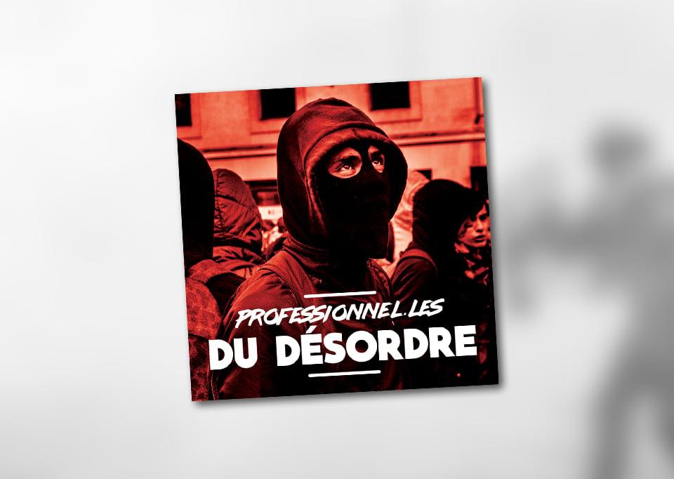 """Image of Lot de 100 autocollants (""""PROFESSIONNEL.LES DU DÉSORDRE"""")"""