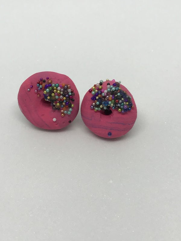 Image of Donut worry earrings