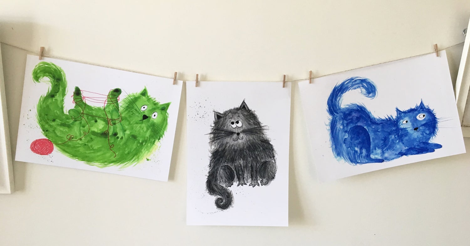 Image of Colourful Cats 50% OFF