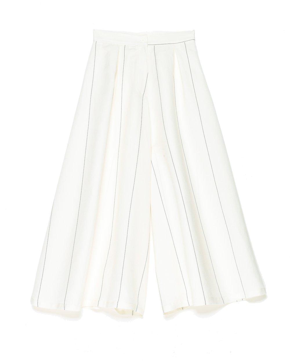 Image of Jupe culotte rayée SOPHIA