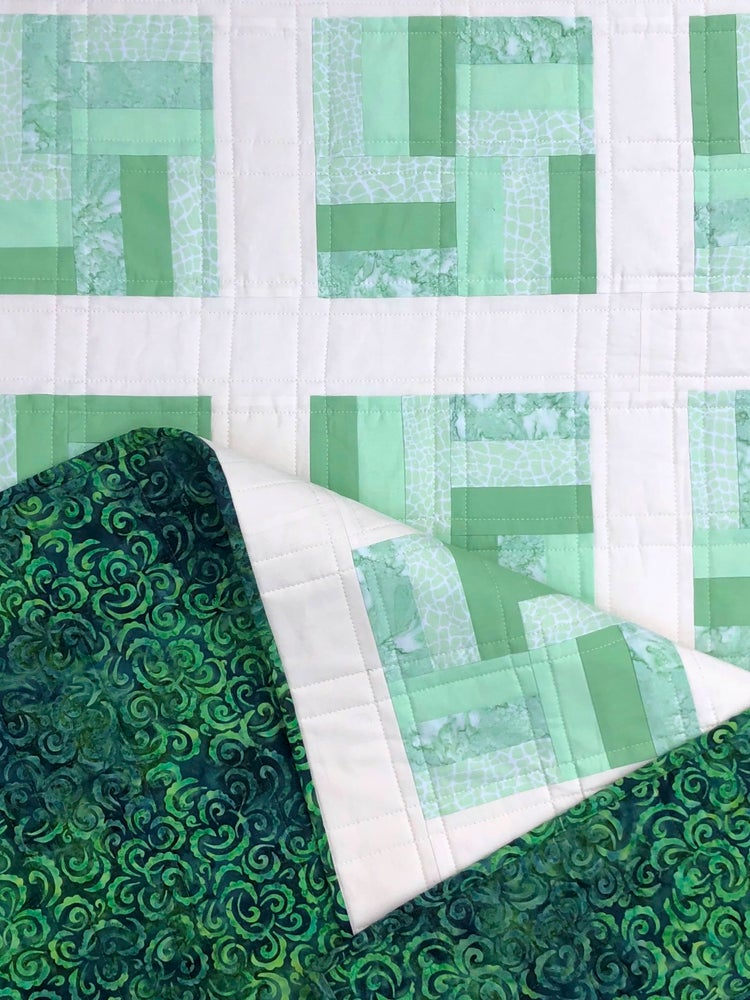 Image of Split Rail Block Quilt PDF Pattern