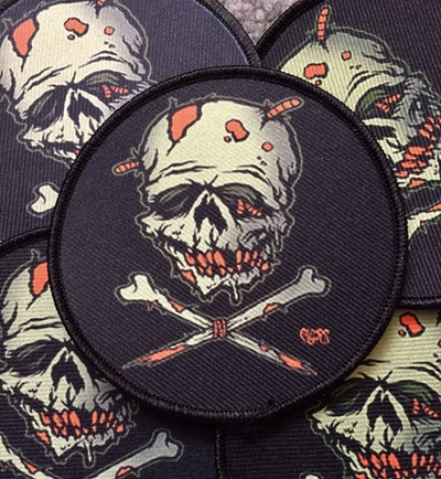 Image of ZOMBIE SKULL N BONES - Patch
