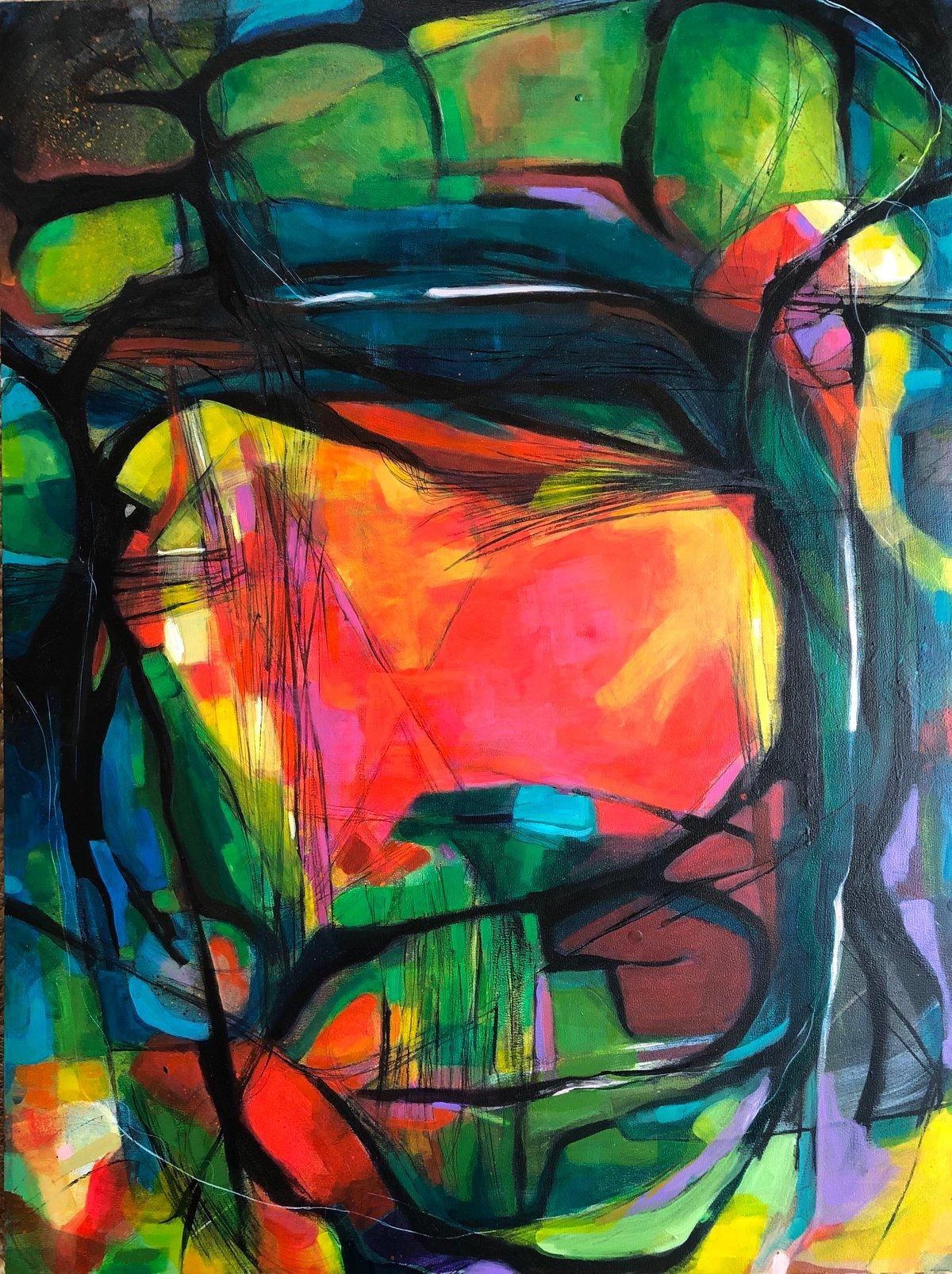 Image of Love Bridge- original abstract painting