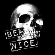 Image of Be Nice retro punk skull shirt
