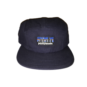 Image of phillymade. 5 panel unstructured hat navy