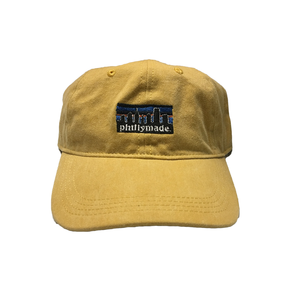 Image of phillymade. hat - yellow faded unstructured