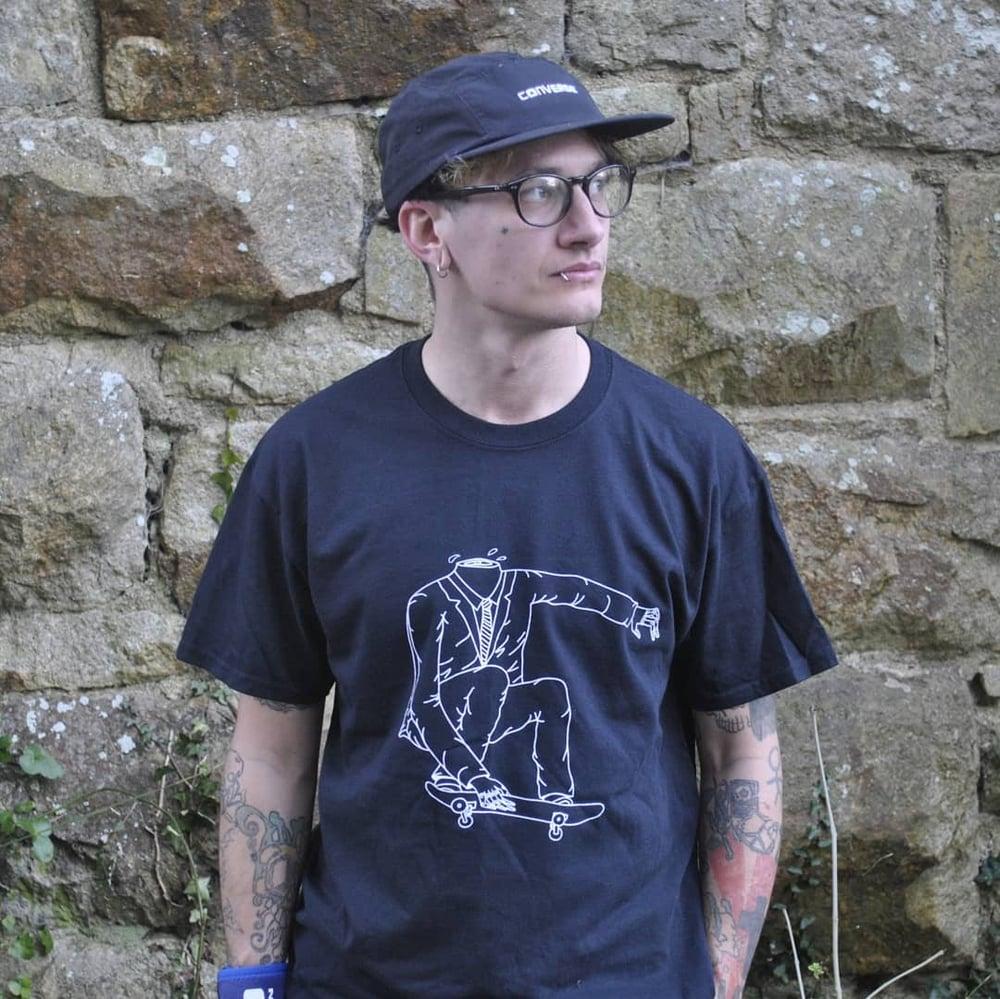 Image of Black Headless Skater T-Shirt
