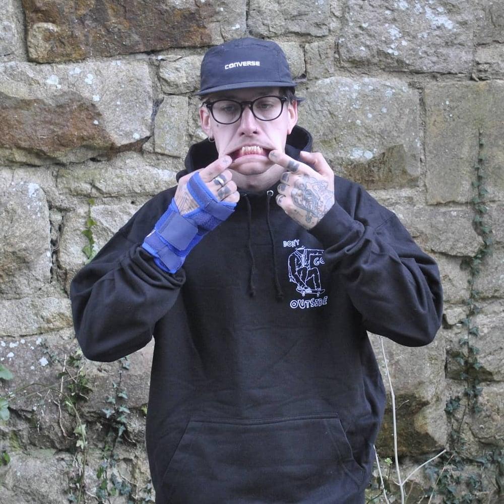 Image of Black Headless Skater Hoodie