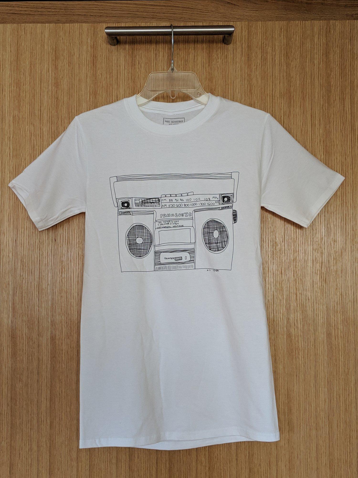 Image of boombox shirt WHT