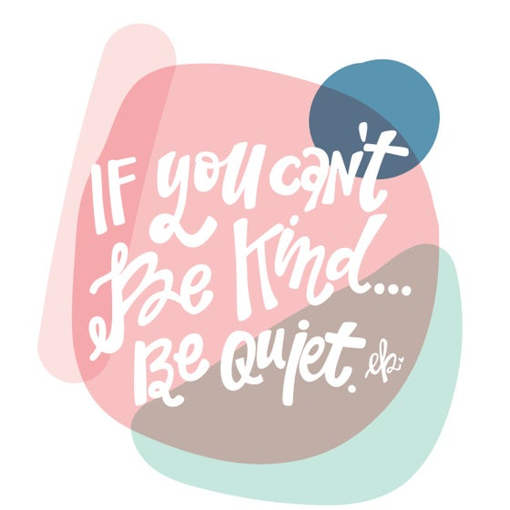 "Image of ""be quiet"" print"