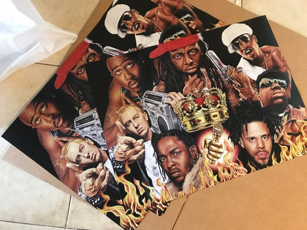 """Image of """"Kings of Rap"""" Poster Style Prints"""