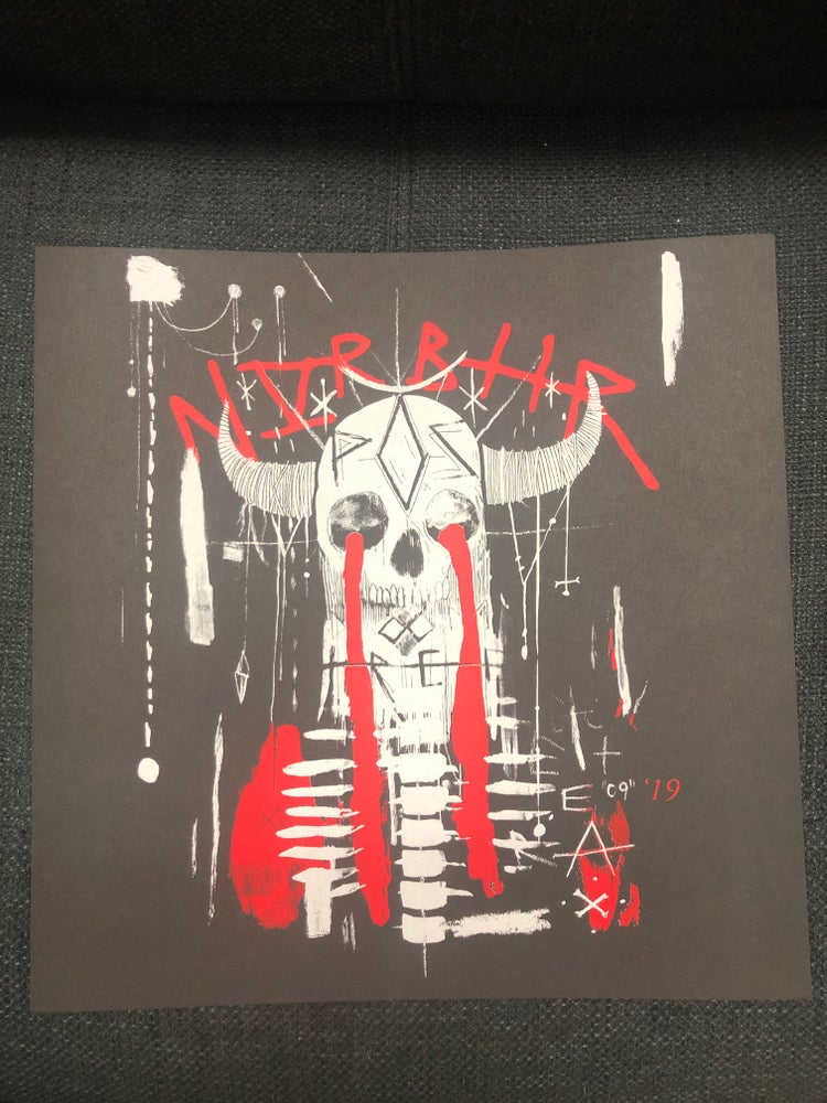 Image of P.O.S 'Brutal Skull' Screenprinted Poster