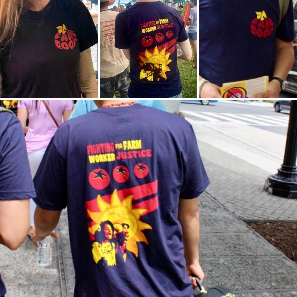 "Image of DC Fair Food ""Fighting for Farm Worker Justice"" T-Shirts"