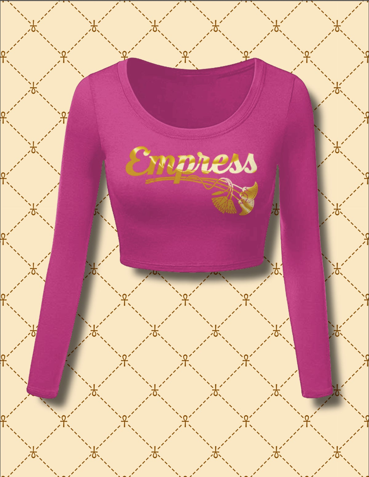 Image of Empress Long Sleeve Crop Top