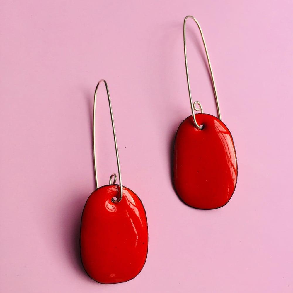 Image of Enamel drop earrings