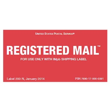Image of Registered Mail