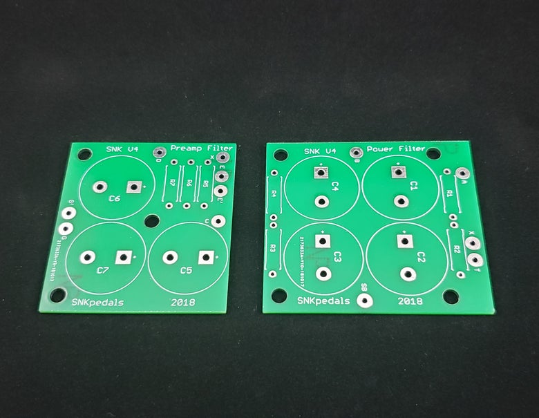 Image of SNK Amp Mods Ampeg V4 Filter Cap PCB set