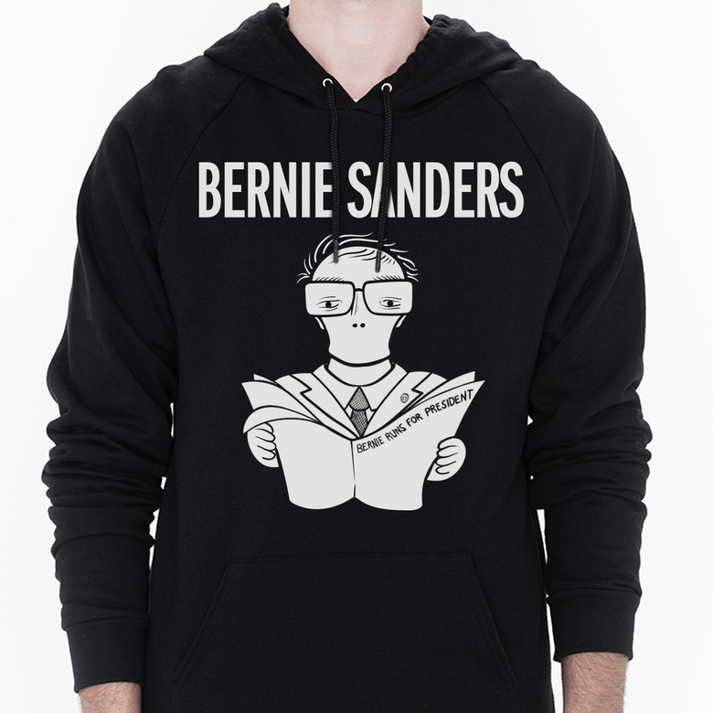 Image of 2020 Bernie Runs for President - Unisex Pullover Hoodie