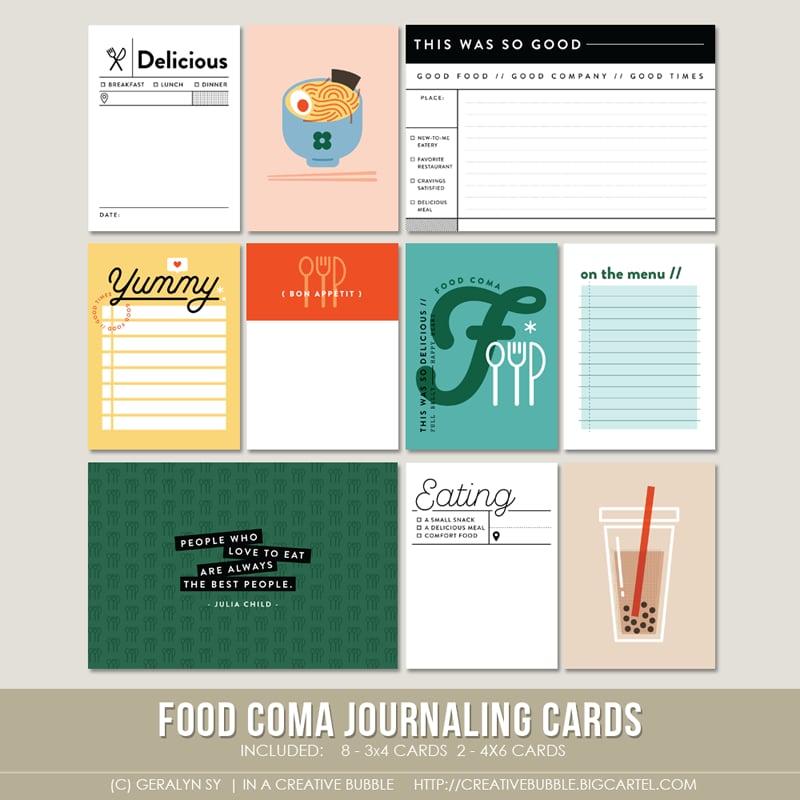 Image of Food Coma Journaling Cards (Digital)