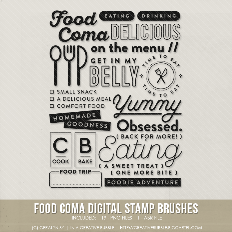 Image of Food Coma Stamp Brushes (Digital)