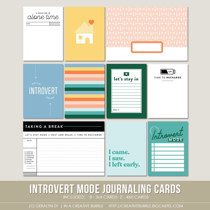 Image of Introvert Mode Journaling Cards (Digital)