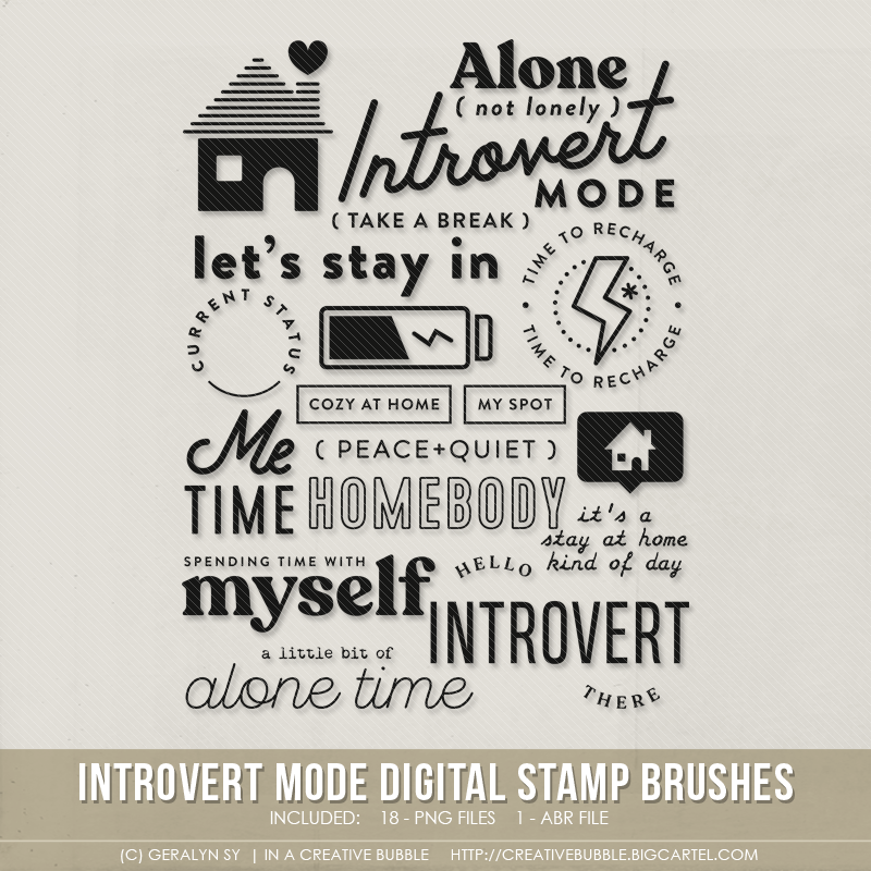Image of Introvert Mode Stamp Brushes (Digital)