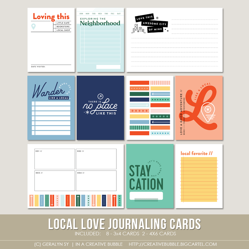 Image of Local Love Journaling Cards (Digital)
