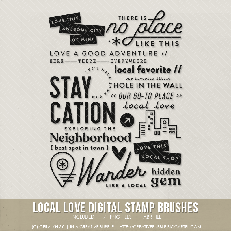 Image of Local Love Stamp Brushes (Digital)