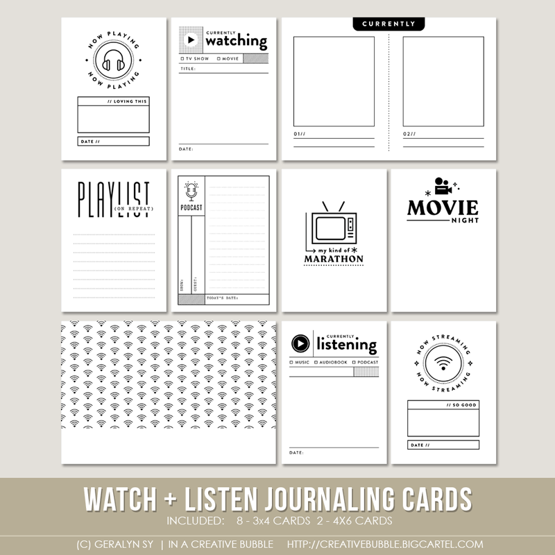 Image of Watch + Listen Journaling Cards (Digital)
