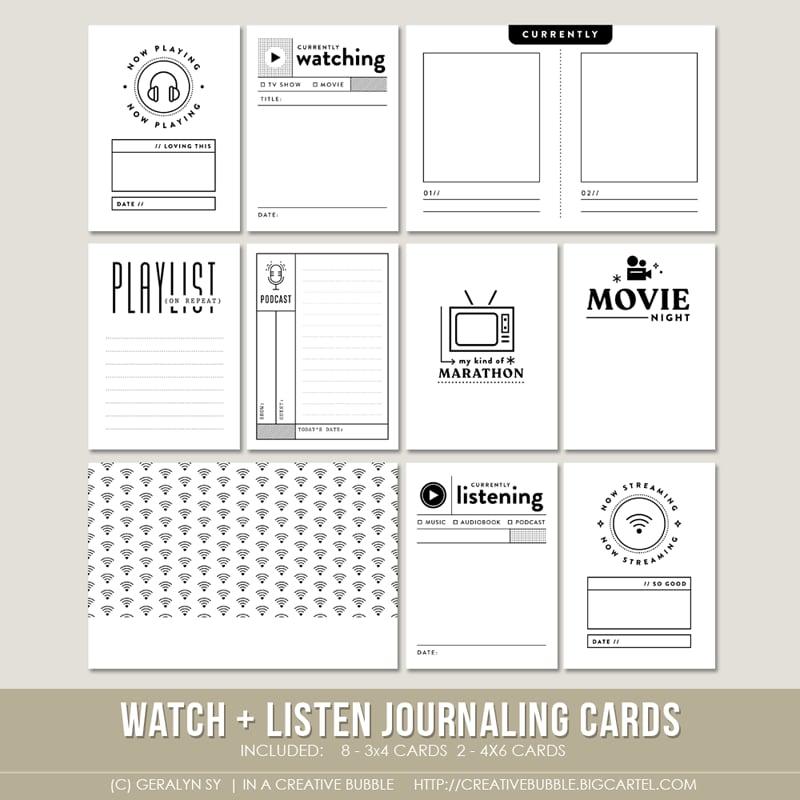 Image of Watch + Listen Journaling Cards (Digital)