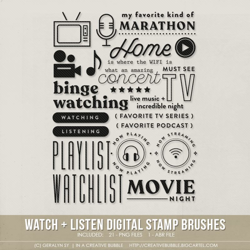 Image of Watch + Listen Stamp Brushes (Digital)
