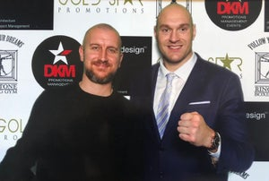 Image of Fury vs Wilder  - SIGNED canvas print 3x2ft