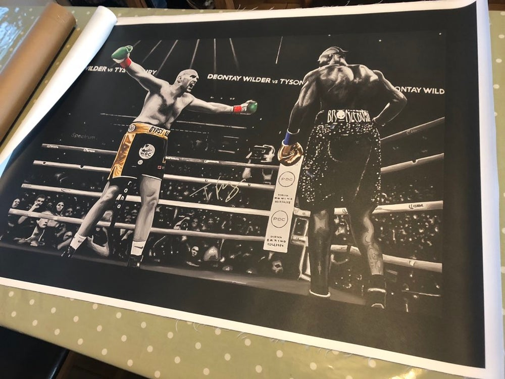 Image of Come On You Dosser - SIGNED canvas print 3x2ft