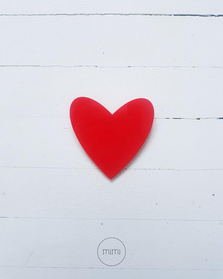Image of broška SRCE // rdeča / brooch HEART // red