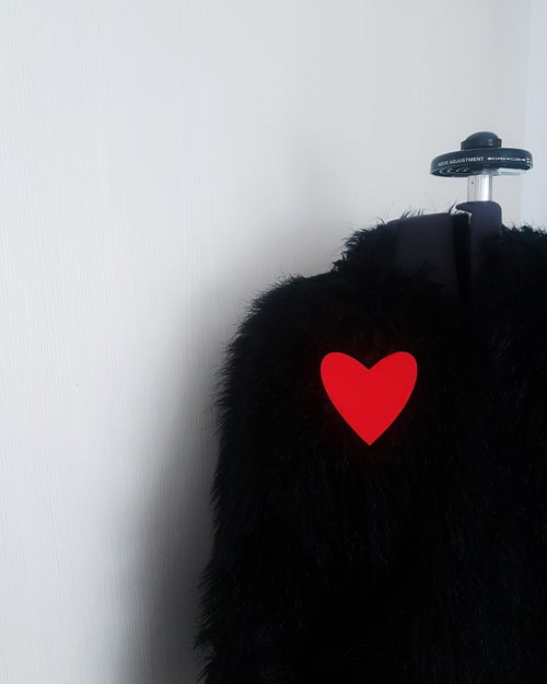 Image of broška SRCE // rdeča / brooch HEART // red