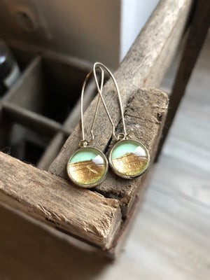 Image of Boucles d'oreilles Les petites Scintillantes feuille d'or