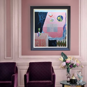 Image of Contemporary Painting, 'The Jazzy Vase,' Poppy Ellis