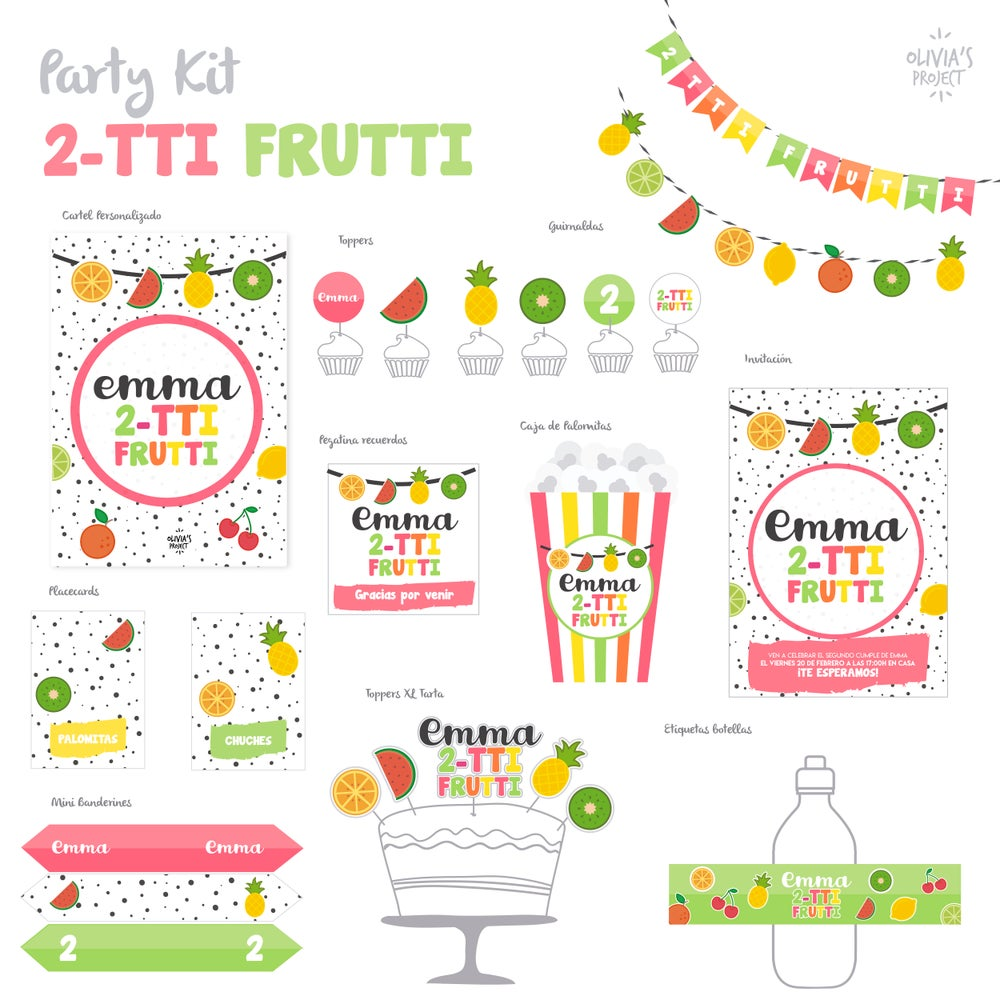 Image of Party Kit 2TTI-FRUTTI Impreso