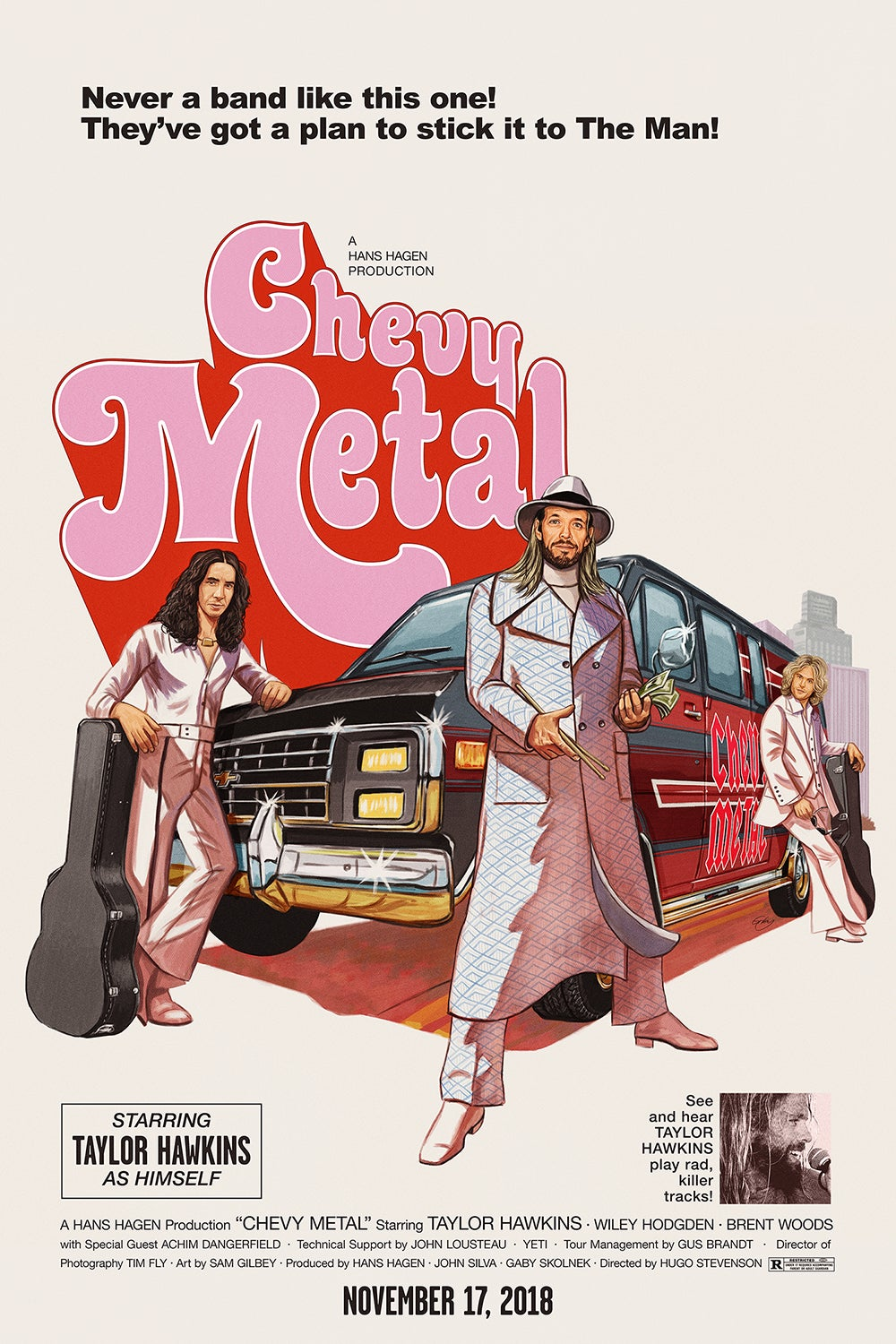 """Image of Chevy Metal 24"""" x 36"""" Gig Poster (artist proof copies)"""
