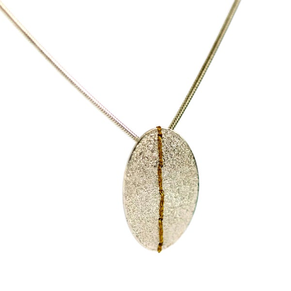 Image of Single Sewn-Up necklace